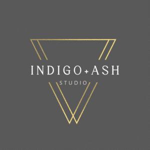 Indigo+Ash Studio Logo and current client of STU Enterprises